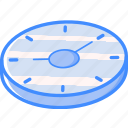 isometric, essentials, clock