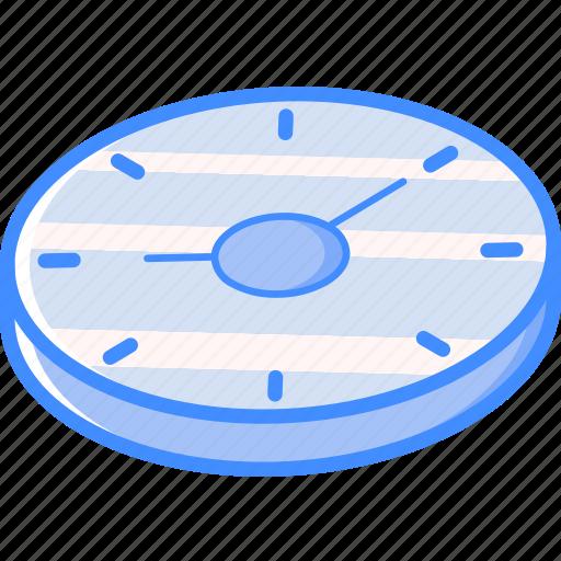 Clock, essentials, isometric icon - Download on Iconfinder