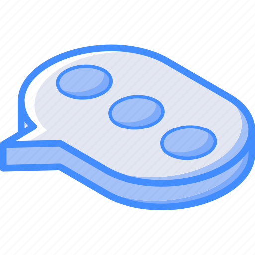 essentials, isometric, message, typing icon