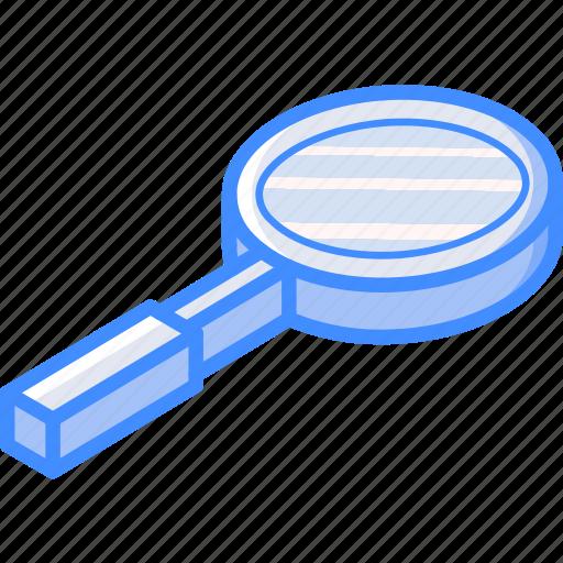 essentials, isometric, zoom icon