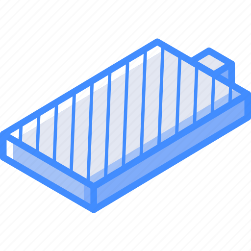 Battery, essentials, full, isometric icon - Download on Iconfinder