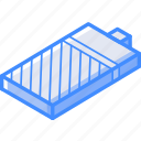 battery, isometric, three, quater, essentials