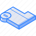 delete, essentials, folder, isometric icon