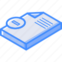 isometric, document, essentials, delete