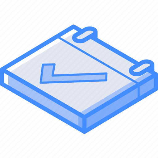 Calendar, essentials, isometric, positive icon - Download on Iconfinder