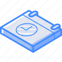 calendar, time, isometric, essentials