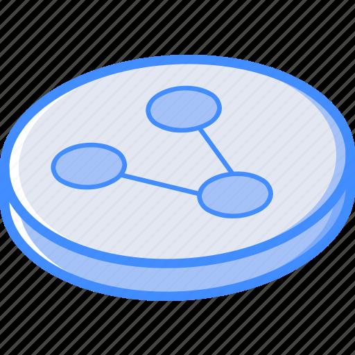 essentials, isometric, share icon
