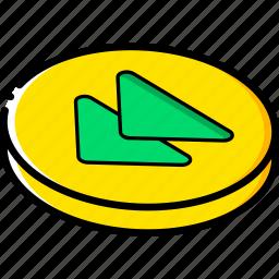 essentials, isometric, rewind icon