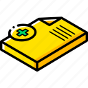 document, essentials, isometric, new icon