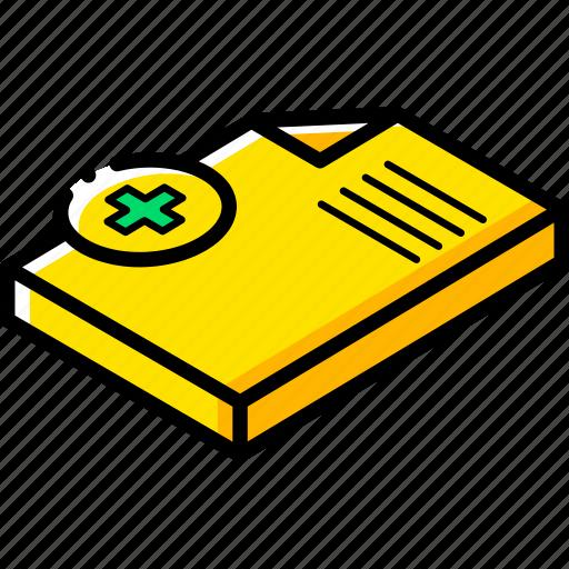 document, essentials, isometric, new icon