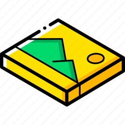 essentials, image, isometric icon