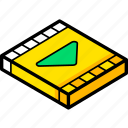 essentials, isometric, movie icon