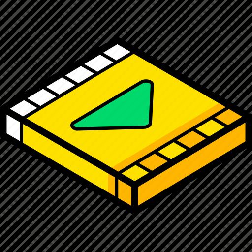 essentials, isometric, movie icon
