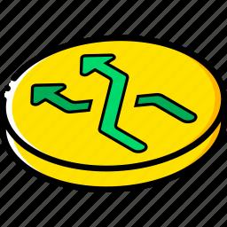 essentials, isometric, shuffle icon