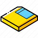 essentials, isometric, save icon