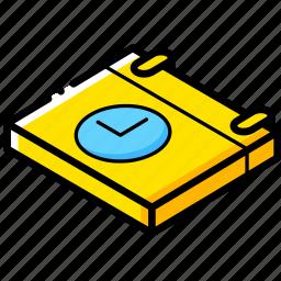 calendar, essentials, isometric, time icon