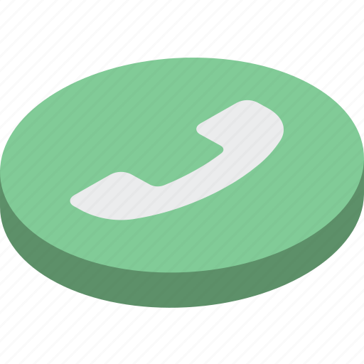 call, essentials, isometric, phone icon