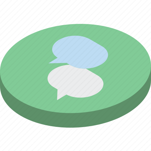 essentials, isometric, messages icon