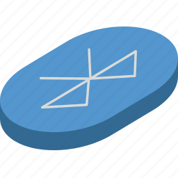 bluetooth, essentials, isometric icon