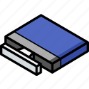 computer, essentials, isometric icon