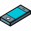 phone, isometric, essentials