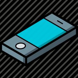 essentials, isometric, phone icon