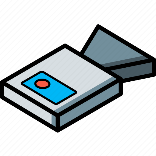 camera, essentials, isometric icon