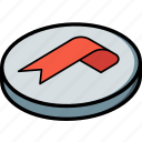 bookmark, essentials, isometric icon
