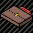 isometric, briefcase, essentials