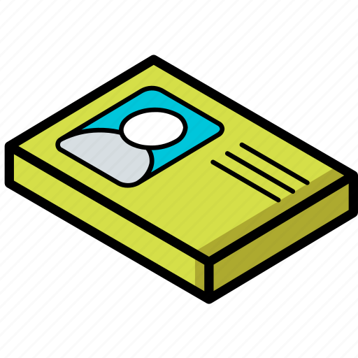 essentials, identification, isometric icon