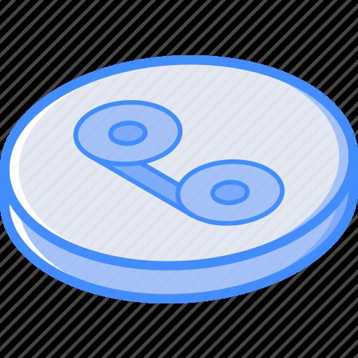 essentials, isometric, recording icon