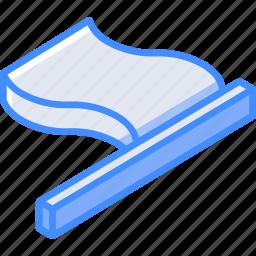 essentials, flag, isometric icon