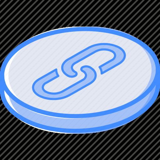 essentials, isometric, link icon