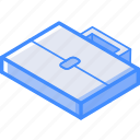 briefcase, essentials, isometric icon