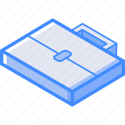 briefcase, essentials, isometric icon