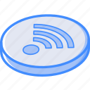 essentials, isometric, wifi icon