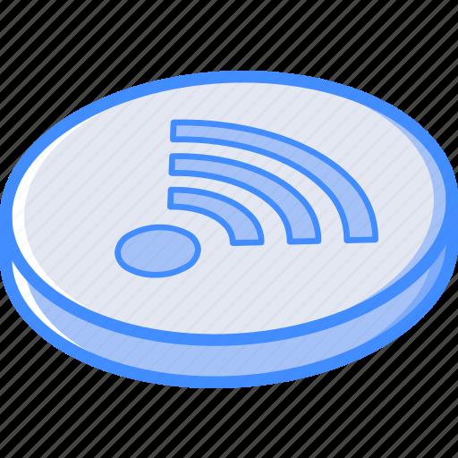 essentials, isometric, wifi icon