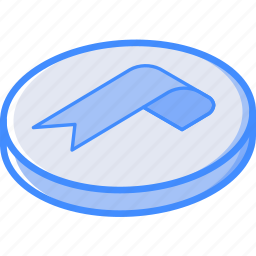 bookmark, essentials, isometric icon