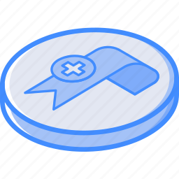 add, bookmark, essentials, isometric icon