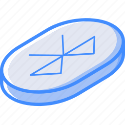 bluetooth, essentials, isometric icon