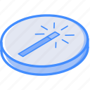 enhance, essentials, isometric icon
