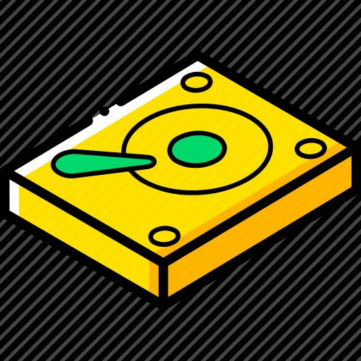 drive, essentials, hard, isometric icon