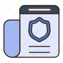 document, file, internet, page, safe, security, shield
