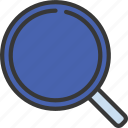 magnifying, glass, ui, ux, loupe, search