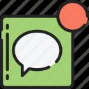 essentials, message, notification, receive, text icon