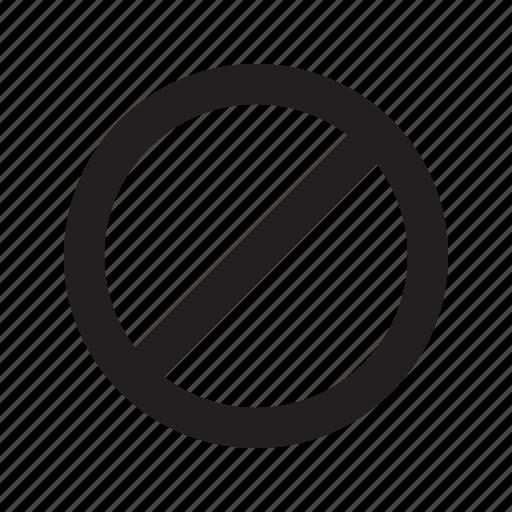 block, disable, unavailable icon
