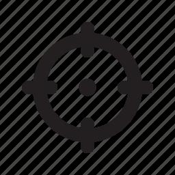goal, gun, shoot, sight icon