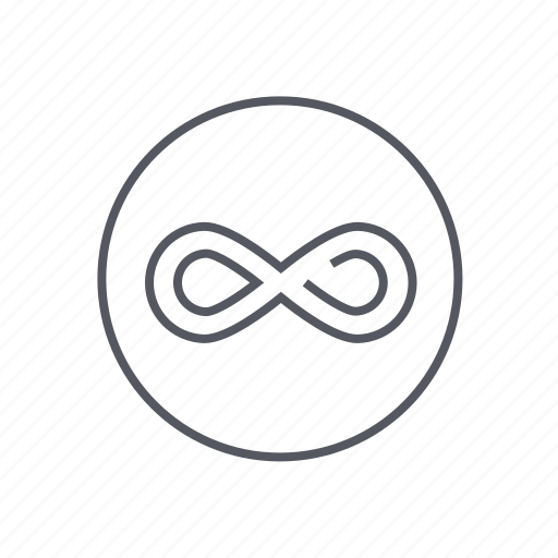 endless, infinity, looping, sign icon