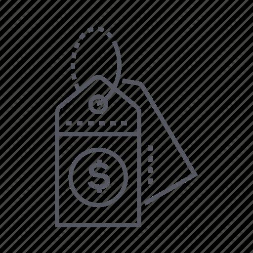 dollar sign, label, price, tag icon