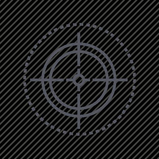 aim, shooting mark, target, tee icon